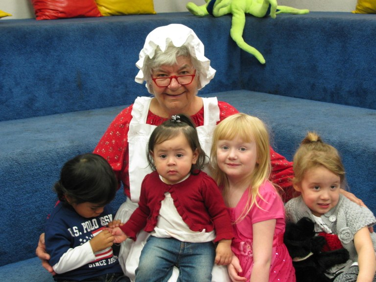 Mrs. Claus with S.T. kids