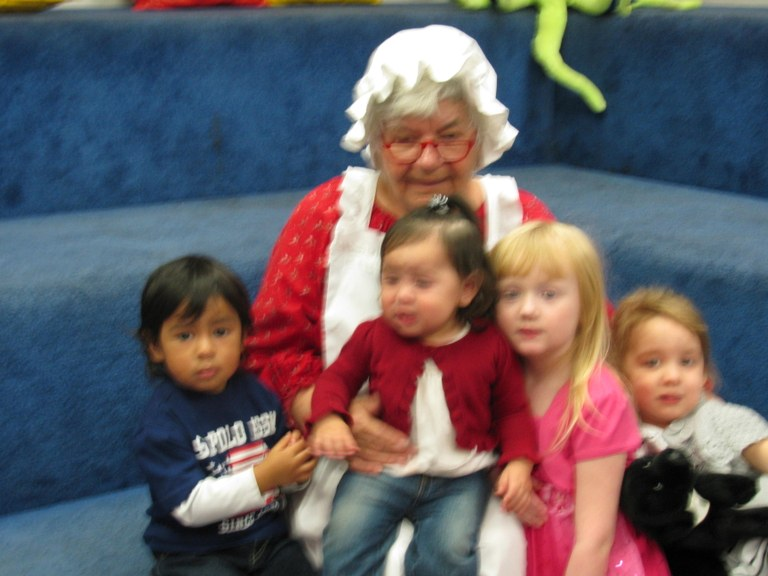 Our Story Time gang with Mrs. Clause