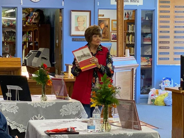 Ginger Beisch reading from her newest book.